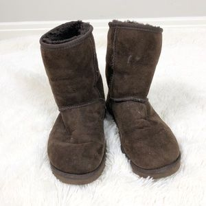 UGG Brown Classic Short Shearling Boots